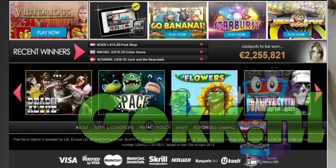 Gratis Spins op iedere storting van 10 euro bij Free Spins Casino!