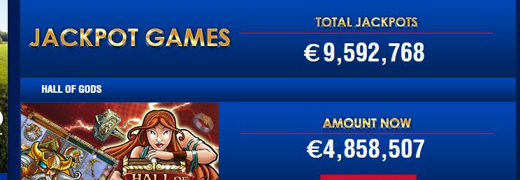 Totale jackpot Polder Casino bijna €10 miljoen!