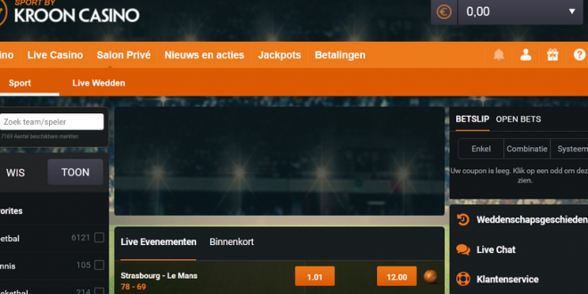 Gokken op Sport kan nu ook bij Kroon Casino