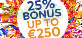 25% bonus bij FortuinCasino's Doldwaze Donderdag